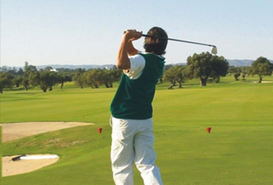 rocha brava village resort man golfing